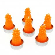 6 Bougies Ananas Orange ( 6 cm)