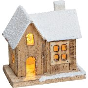 Maisonnette Lumineuse LED (10 cm) - Bois