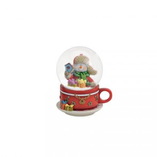 Boule à Neige Tasse Bonhomme de Neige (9 cm)