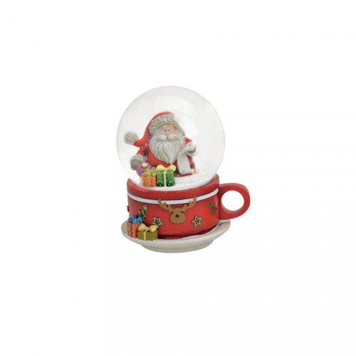 Boule à Neige Tasse Père Noël (9 cm)