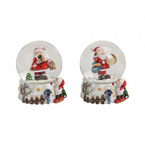 Boule à Neige Père Noël - Blanc