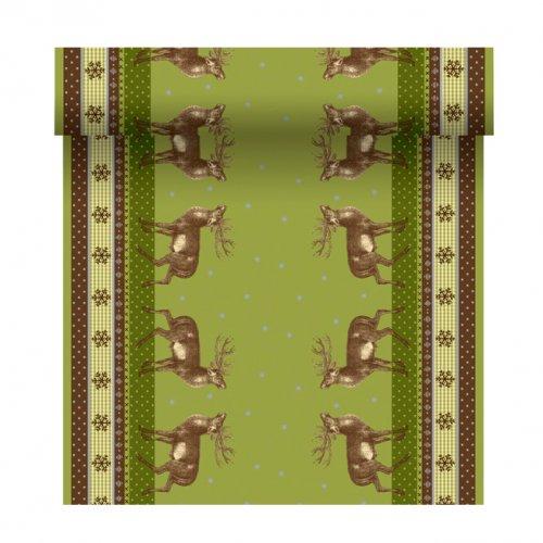 Chemin de table 3 en 1 rennes vert