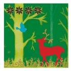 20 Serviettes Forêt enchantée