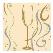 20 Serviettes Flûtes à champagne Medium