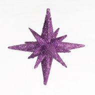 Étoile scintillante 3D à suspendre Mauve