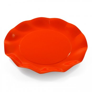 10 Assiettes Plates Orange