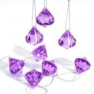8 Diamants Violet à suspendre