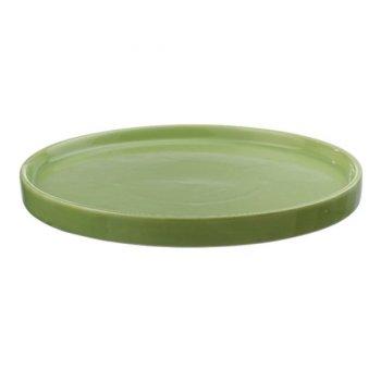 Plat de présentation porcelaine Vert