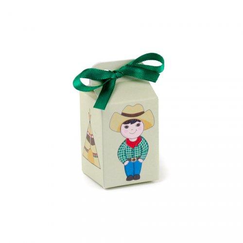 10 Mini Boîtes à Dragées Cow Boys