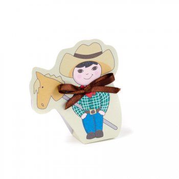 10 Ballotins Cow-Boy