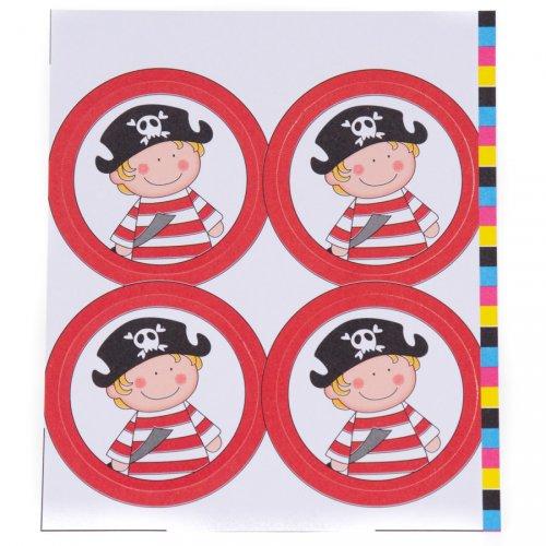 12 Décors Jack le Pirate pour Boule 5 cm