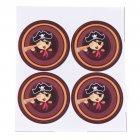 12 Décors Pirate Fille pour Boule 5 cm