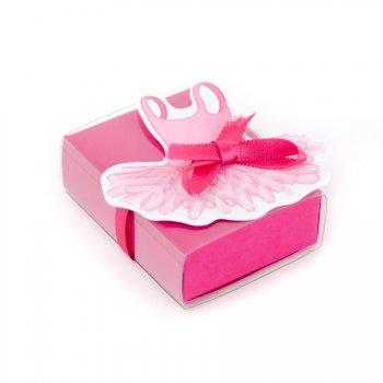 10 Petites Boîtes à dragées Ballerine avec vignettes
