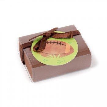 10 Petites Boîtes à dragées avec vignette Rugby