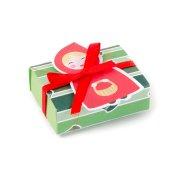 10 Petites Boîtes à Dragées avec Vignette Chaperon Rouge