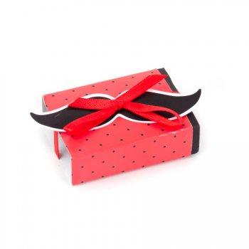 10 Petites Boîtes à dragées avec vignette Moustache