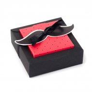 2 Grandes Boîtes à Dragées avec Vignette Moustache