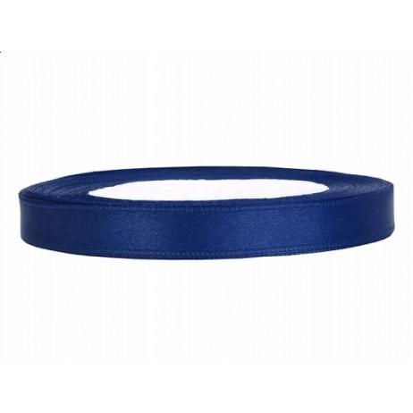 Ruban Satin 6mm Bleu Foncé 25m