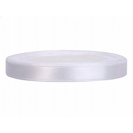 Ruban Satin 6mm Blanc 25m