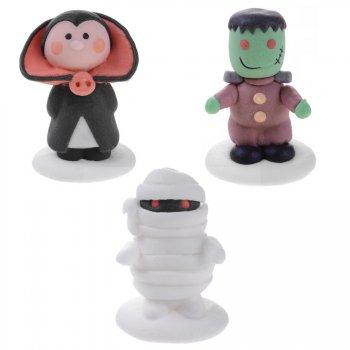 3 Figurines en Sucre Halloween