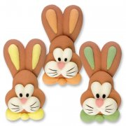 4 têtes de lapins en sucre