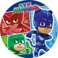 1 Disque Pyjamasques 3 cases (21 cm) - Sucre