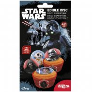 16 Mini Disques Star Wars (3,4 cm) - Sucre