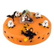 G�teau Halloween � 22 cm, 8/10 parts