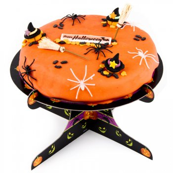 G teau happy halloween 22 cm 8 10 parts pour l for Idee deco gateau halloween