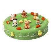 Gâteau Les animaux de la ferme Ø 22 cm, 8/10 parts Génoise pépites chocolat
