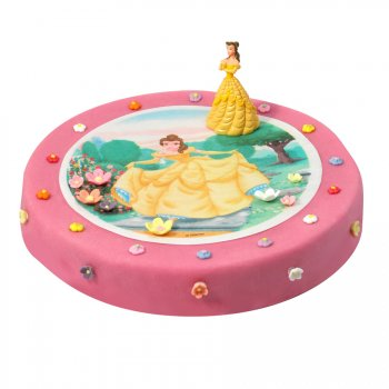 Gâteau Princesse Belle Ø 28 cm, 12/14 parts