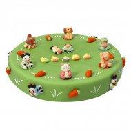 Gâteau Les animaux de la ferme Ø 28 cm, 12/14 parts