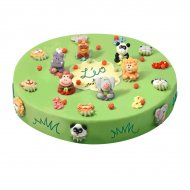 Gâteau Jungle Ø 28 cm, 12/14 parts