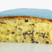 Génoise pépites chocolat pâte à sucre bleu 22 cm