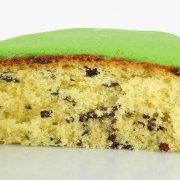 Génoise pépites chocolat pâte à sucre vert 22 cm