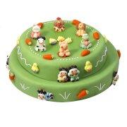 Gâteau Les animaux de la ferme double 20/24 parts