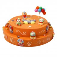 Gâteau Clown double 20/24 parts