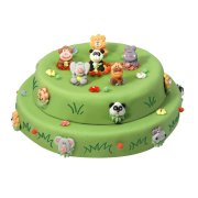 Gâteau Jungle double 20/24 parts Génoise pépites chocolat