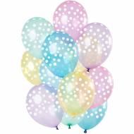 Bouquet 15 Ballons Pois Blanc - Pastel