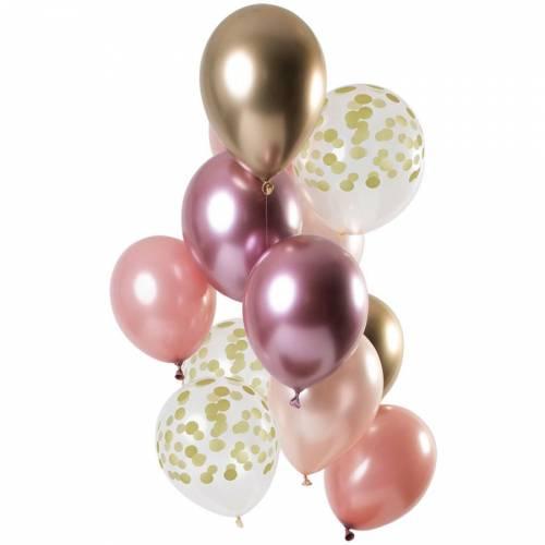Bouquet 12 Ballons Golden Blush