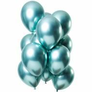 Bouquet 12 Ballons Métallique Vert Effet Miroir