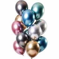 Bouquet 12 Ballons Métallique Trésor Effet Miroir