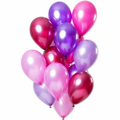 Bouquet 15 Ballons Pink Métallique