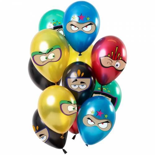 Bouquet 12 Ballons Super Héros Métallique