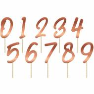 Cake Toppers Chiffres Rose Gold - 20 pièces