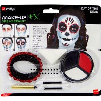 set maquillage squelette dia de los muertos pour l 39 anniversaire de votre enfant annikids. Black Bedroom Furniture Sets. Home Design Ideas