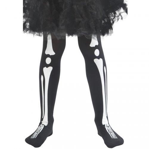 Collant Squelette Enfant Noir Taille 4-9 ans