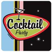 8 sous-verres Cocktail Party