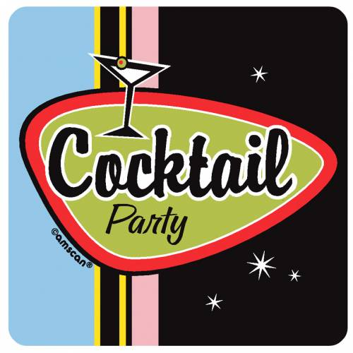 8 sous-verres Cocktail Party