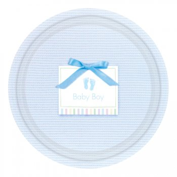 "8 Assiettes Bleu ""Baby boy"""